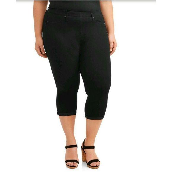 Blue Cove Super Soft 14W Terra /& Sky Women/'s Plus Pull On Capri Leggings 0X